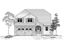French-Country Style House Plans Plan: 44-516