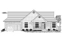 Country Style Floor Plans Plan: 44-517