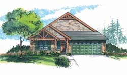 Craftsman Style Home Design Plan: 44-519