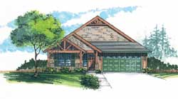 Craftsman Style Floor Plans Plan: 44-520