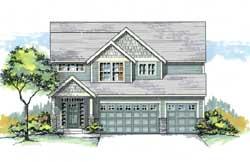 Craftsman Style Home Design Plan: 44-521