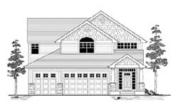 Craftsman Style Floor Plans Plan: 44-523