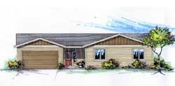 Ranch Style Floor Plans Plan: 44-529