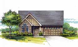 Craftsman Style Home Design Plan: 44-535