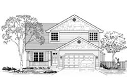 Craftsman Style Home Design Plan: 44-536