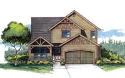 Craftsman Style Home Design Plan: 44-537
