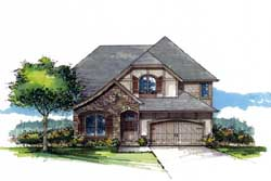 French-Country Style House Plans Plan: 44-538