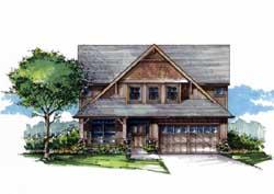 Craftsman Style Home Design Plan: 44-539