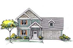 Craftsman Style House Plans Plan: 44-543