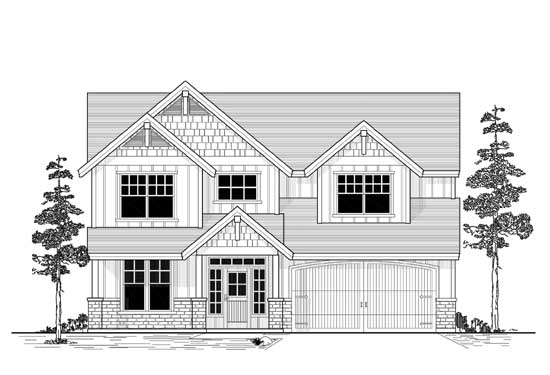 Craftsman Style Home Design 44-544