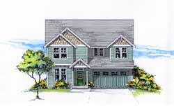 Craftsman Style Home Design Plan: 44-546