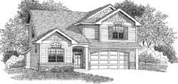 Craftsman Style Home Design Plan: 44-549
