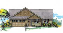 Craftsman Style Home Design Plan: 44-553