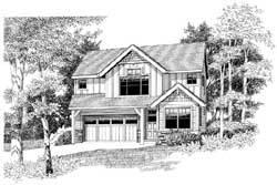 Craftsman Style Home Design Plan: 44-555