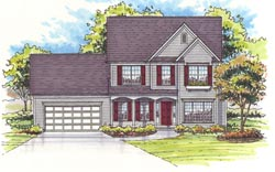 Colonial Style Floor Plans 45-104