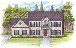 Traditional Style Home Design 45-122