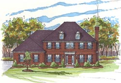 Traditional Style Home Design Plan: 45-125