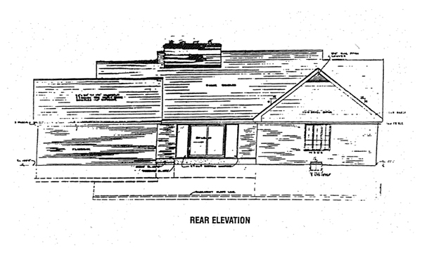 Rear Elevation Plan: 46-123