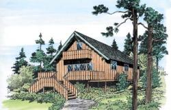 Mountain-or-Rustic Style Floor Plans Plan: 46-124