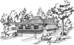 Contemporary Style Home Design Plan: 46-127