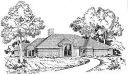 European Style Home Design Plan: 46-141