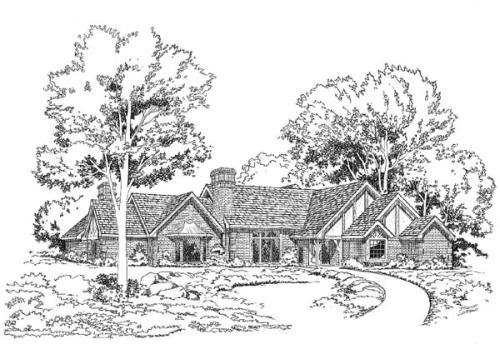 Tudor Style Floor Plans Plan: 46-142