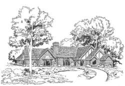 Tudor Style Floor Plans Plan: 46-142
