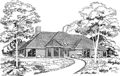 European Style Floor Plans Plan: 46-144