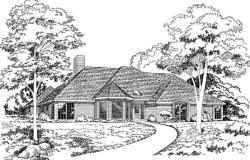 European Style House Plans Plan: 46-144