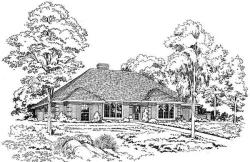 Traditional Style Home Design Plan: 46-146