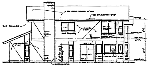 Rear Elevation Plan: 46-150