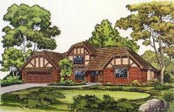 Tudor Style House Plans Plan: 46-155