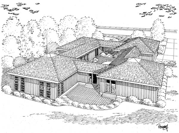 Rear Elevation Plan: 46-162