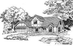 Tudor Style Home Design Plan: 46-168