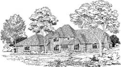 European Style Home Design Plan: 46-175