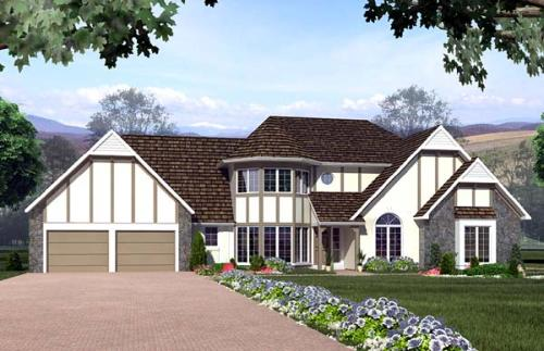 Tudor Style House Plans Plan: 46-182
