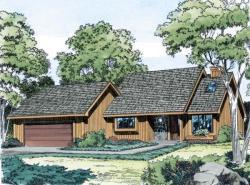 Contemporary Style Home Design Plan: 46-183