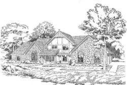 Tudor Style Home Design Plan: 46-184