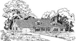 Country Style Home Design Plan: 46-187