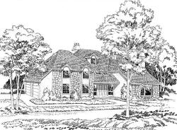 Traditional Style Home Design Plan: 46-190