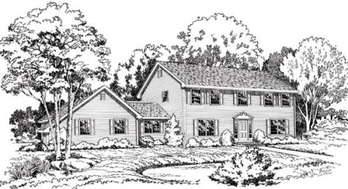 Colonial Style House Plans Plan: 46-191