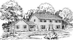Colonial Style Floor Plans Plan: 46-191