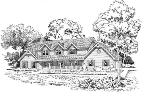 Country Style Floor Plans Plan: 46-192