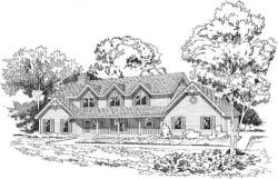 Country Style Home Design Plan: 46-192