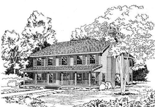 Farm Style Home Design Plan: 46-201