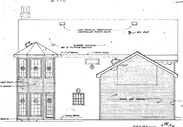Rear Elevation Plan: 46-201