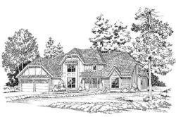 European Style Home Design Plan: 46-204