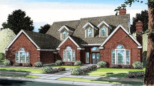 French-Country Style House Plans Plan: 46-212