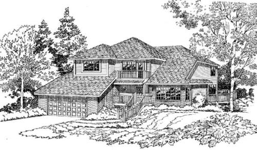 Traditional Style Home Design Plan: 46-215
