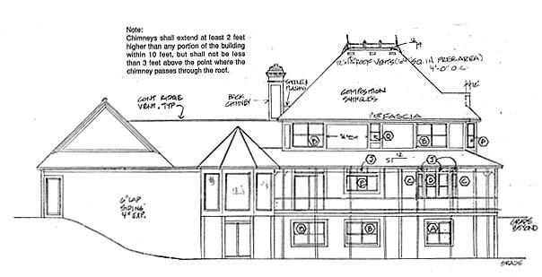 Rear Elevation Plan: 46-219